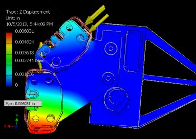 Solar vehicle knuckle stress analysis